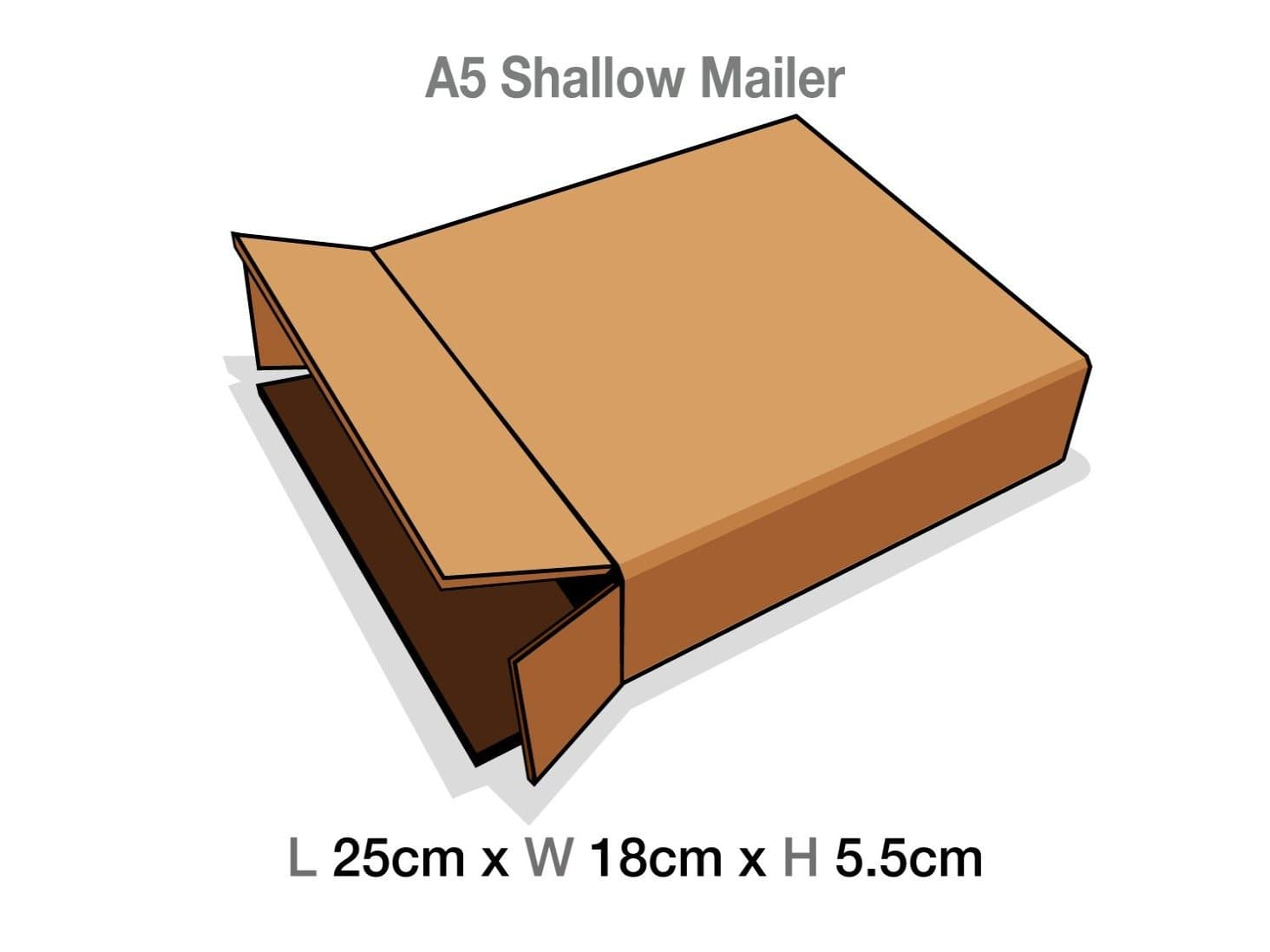 A5 Shallow Gift Box Protective Corrugated Mailing Carton Sample