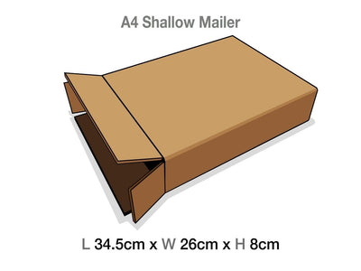 A4 Shallow Gift Box Protective Corrugated Mailing Carton Sample