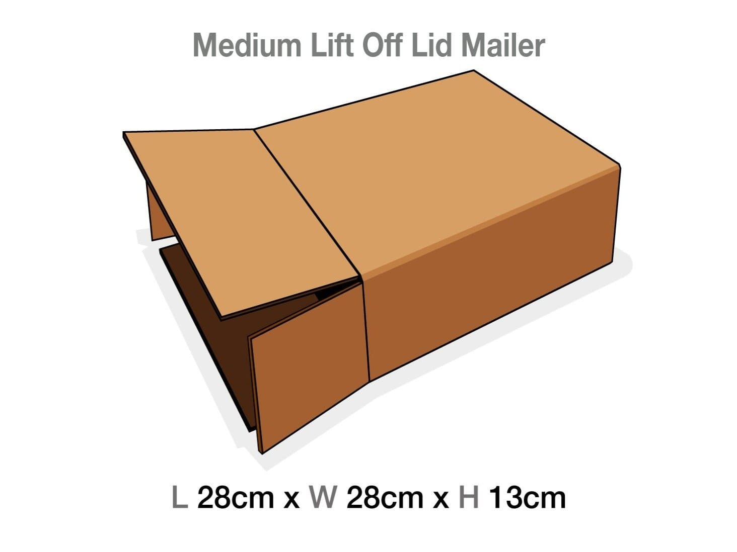Medium Lift Off Lid Corrugated Protective Mailing Carton