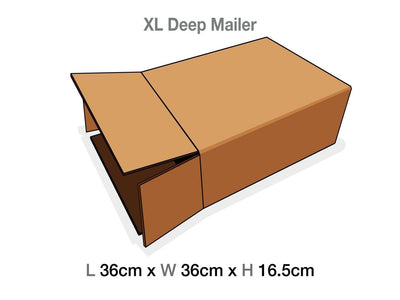 XL Deep Gift Box Corrugated Protective Mailing Carton