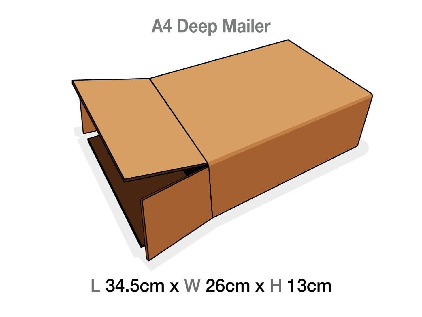 A4 Deep Gift Box Protective Corrugated Mailing Carton Sample