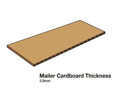A3 Shallow Mailing Carton Corrugated Board Thickness