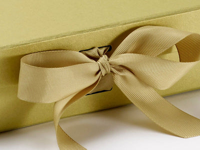 Gold Grosgrain Ribbon Slot Box Detail