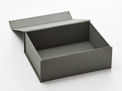 A4 Deep Naked Grey Gift Box Sample Assembled with Lid Open