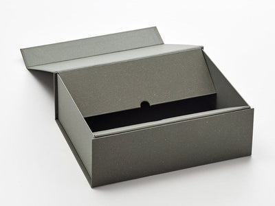 A4 Deep Naked Grey Gift Box Sample Showing Closure Flaps