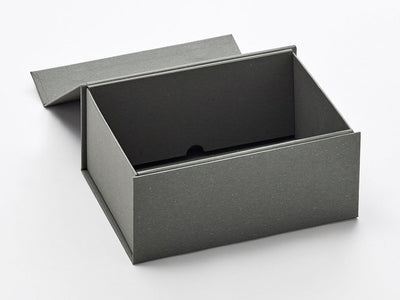A5 Deep Naked Grey Sample Gift Box Assembled with Lid Open
