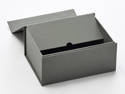 A5 Deep Naked Grey Sample Gift Box Partly Assembled