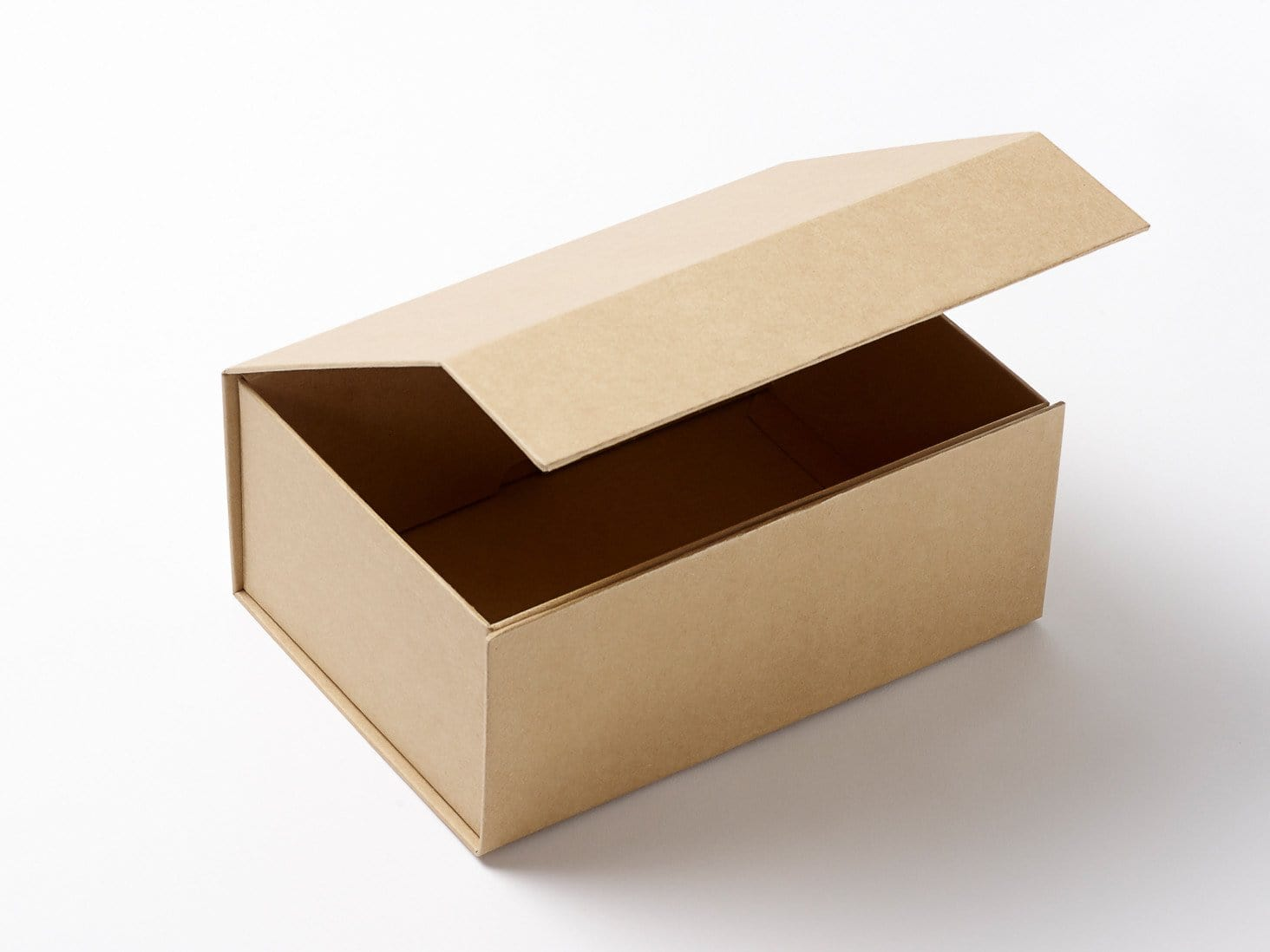 A4 natural kraft folding gift boxes with magnetic snap for Eco boxes