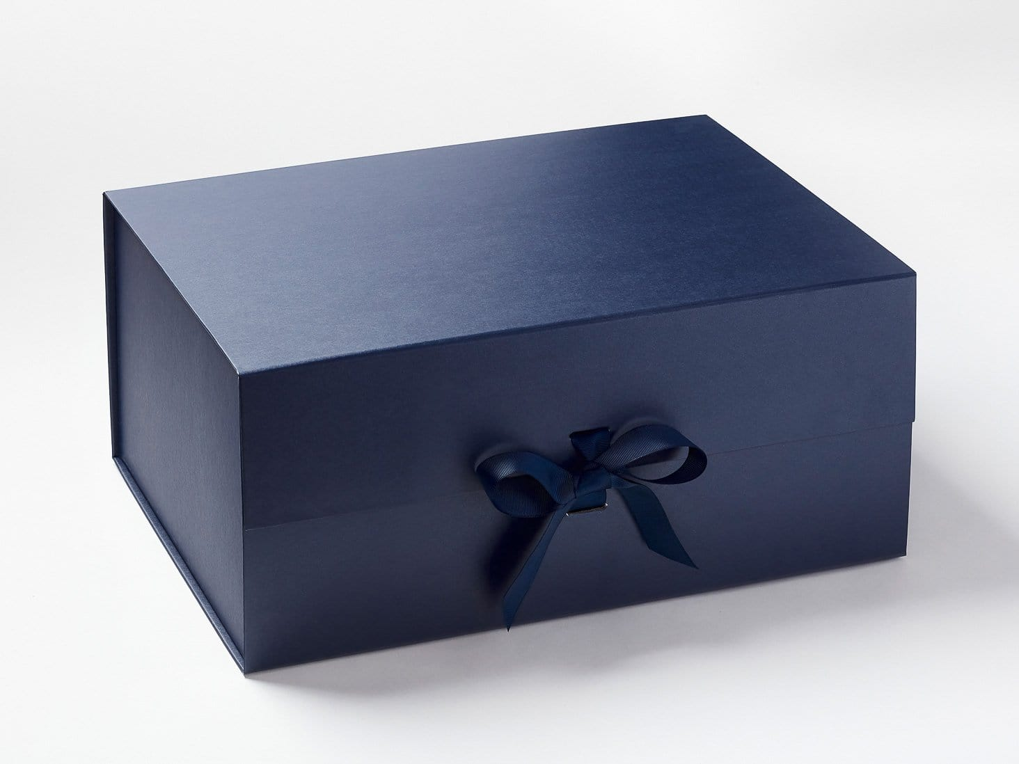 Sample Navy Blue Gift Box with Changeable Ribbon Assembled