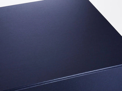 Navy Blue Small Cube Folding Gift Box Paper Detail