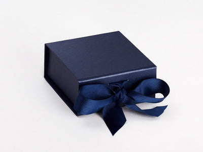Navy Blue Small Folding Gift Box Sample From Foldabox