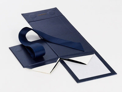 Navy Blue Large Cube Folding Gift Box Supplied Flat