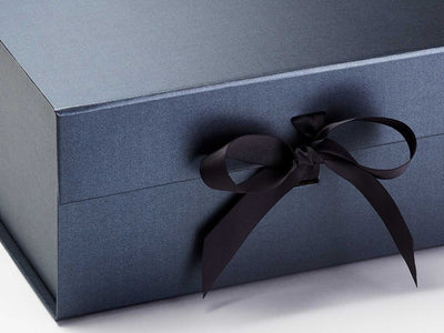 Pewter XL Deep Gift Box Sample Ribbon Detail