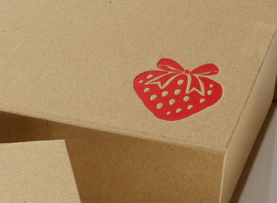Custom Printed Logo to Foldabox UK Natural Kraft Gift Box