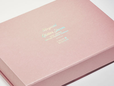 Rose Gold Gift Box with Rainbow foil design