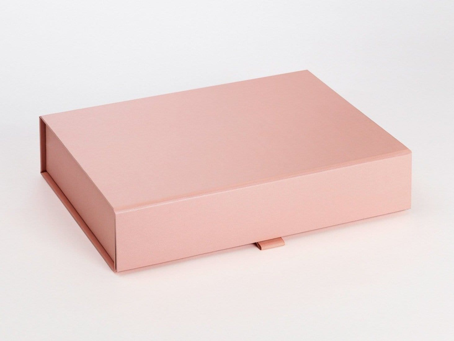 Rose Gold A4 Shallow Folding Gift Box from Foldabox