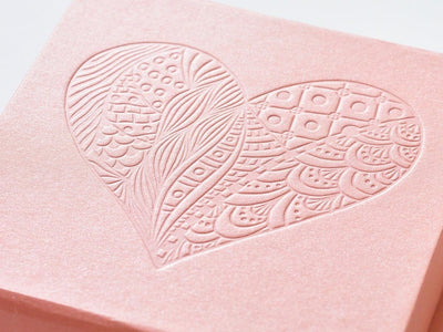 Rose Gold Folding Gift Box with Debossed Logo