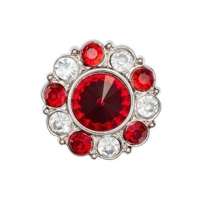 Ruby and Diamond Flower Gemstone Gift Box Closure