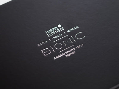 Black Gift Box with Custom Printed Silver Foil Logo