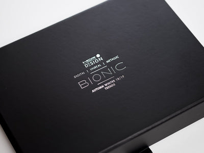 Black Folding Gift Box with Custom Printed Silver Foil Logo