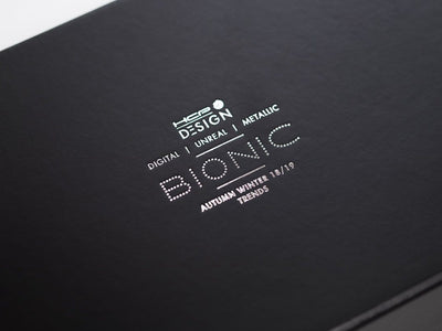 Custom Printed Silver Foil Logo onto Black Luxury Gift Box