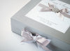 Medium Silver  Folding Gift Box with Hand Crafted Decorations