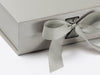 Silver Medium Slot Gift Box ribbon detail