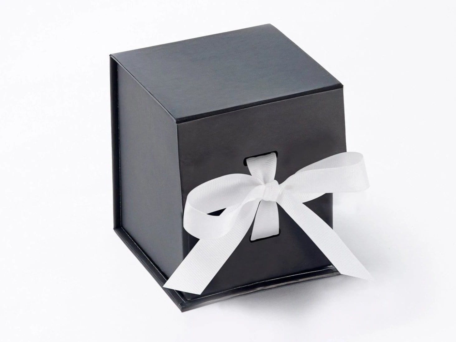 luxury small 4 black cube gift boxes removable and. Black Bedroom Furniture Sets. Home Design Ideas