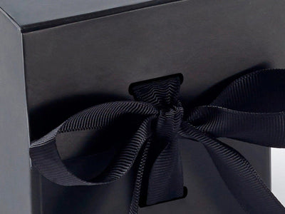 Black small cube with changeable ribbon detail from Foldabox
