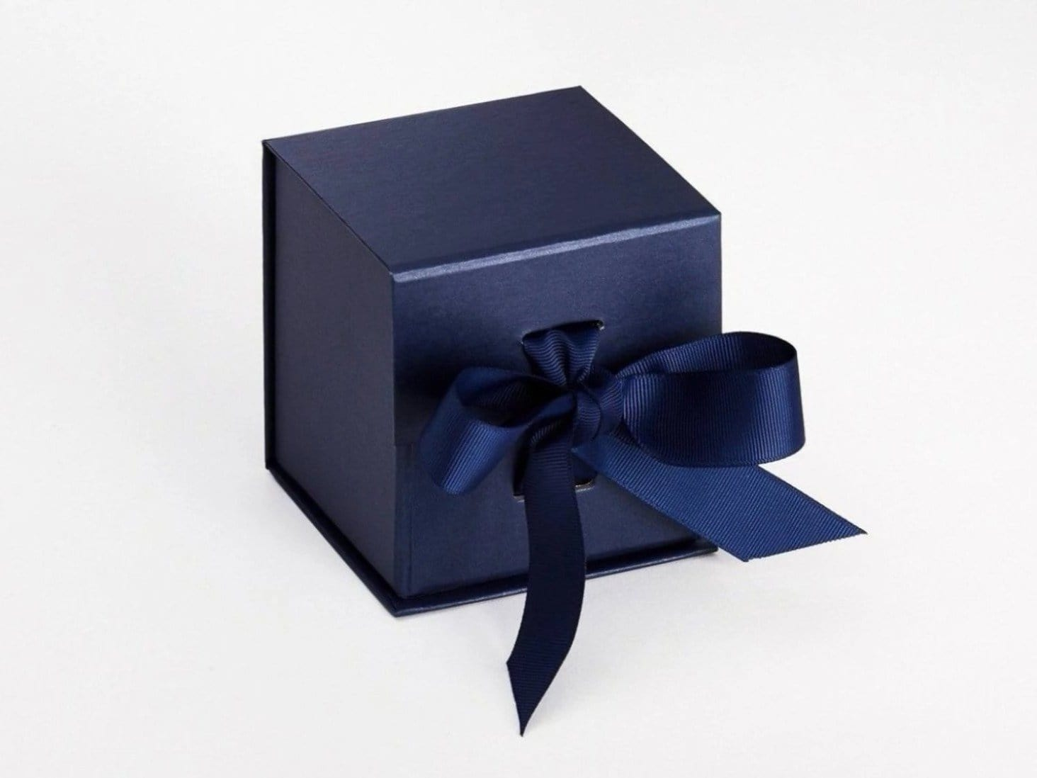 Navy Blue Small Cube Folding Gift Box