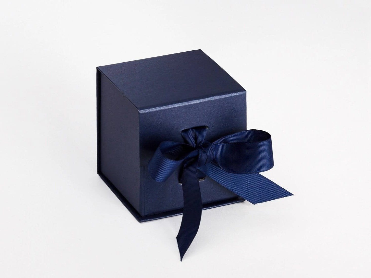 Navy Blue Small Cube Folding Gift Box Sample