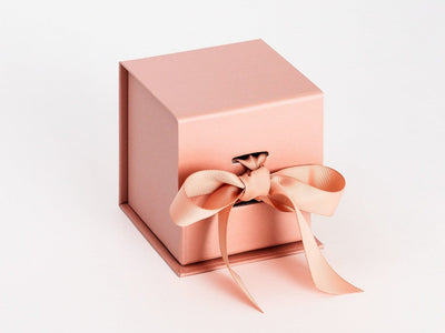 Rose Gold Small Cube Folding Gift Box Sample