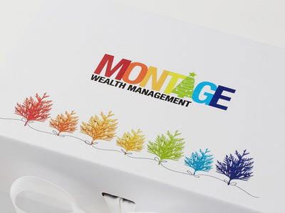 White Folding Gift Box with Custom CMYK Digital Print Design to Lid