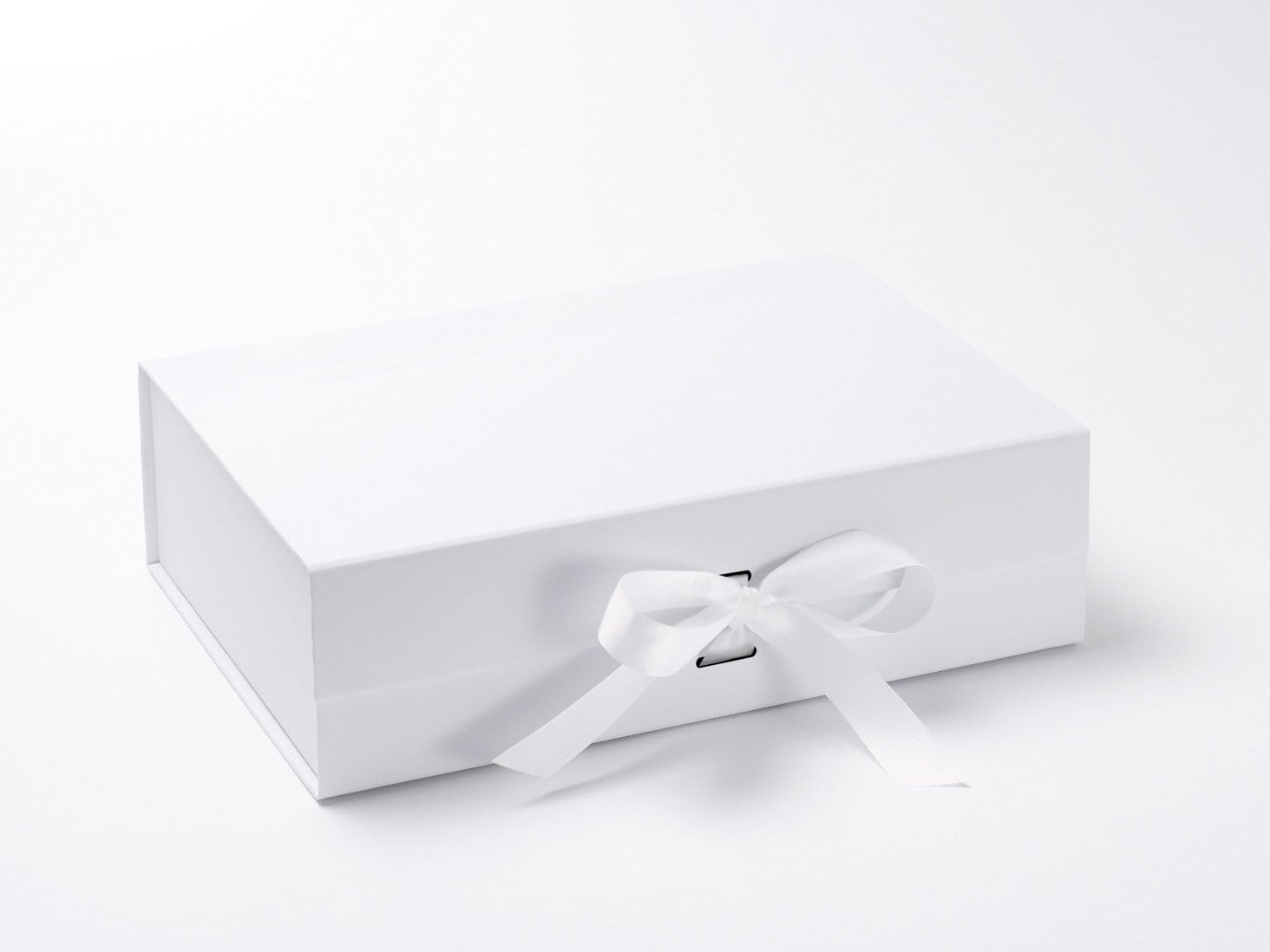 White A4 Deep Slot Gift Box with Removable Ribbon from Foldabox UK
