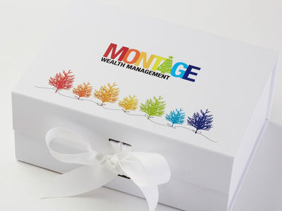 White Folding Gift Box with CMYK Digital Print