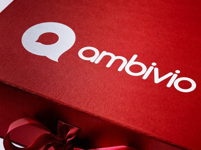 Red Folding Gift Box with Custom Printed White Logo from Foldabox