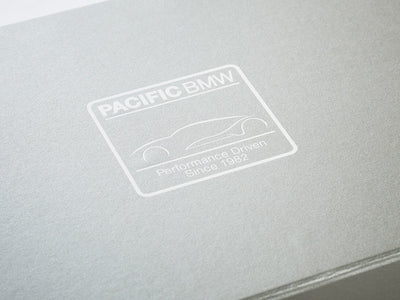 Folabox UK Silver Pearl Folding Gift Box with Custom Printed White Logo