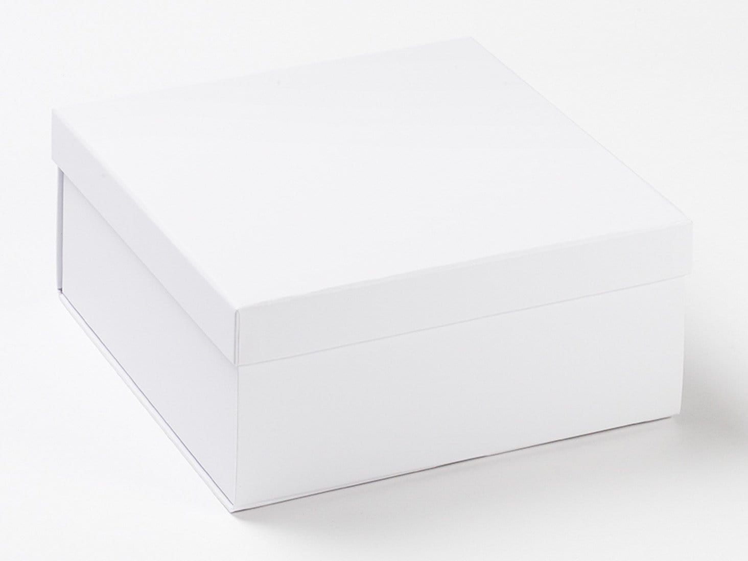 White Medium Lift Off Lid Luxury Folding Gift Boxes with Lid Assembled