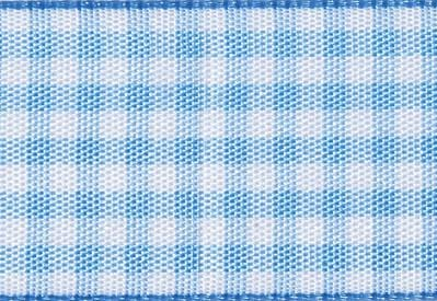 Foldabox UK Pale Blue and White Gingham Ribbon
