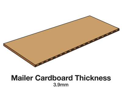 A4 Deep Gift Box Corrugated Mailing carton board thickness
