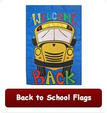 Back to School Flags garden flags