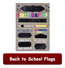 Back to school flags perfect for Fall!