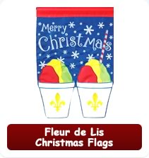 Decorative Fleur de Lis Christmas Flags