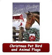 Christmas Pet, Animal and Bird Flags