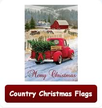 Country Christmas Flags