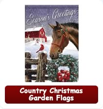 Country Christmas Garden Flags