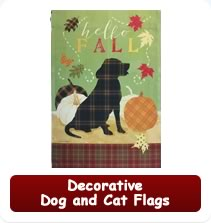 Decorative Dog and Cat Flags