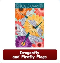 Decorative Dragonfly and Firefly Flags