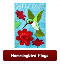 Decorative Hummingbird Flags