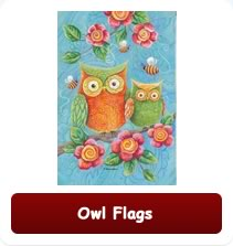 Decorative Owl Flags